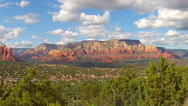 Stock Video Footage of Central Sedona Arizona From Airport Lookout