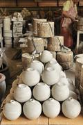 earthenware industry, pottery industry - stock photo