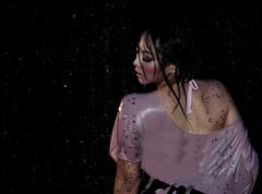 Portrait of young sensuality beautiful woman under the stream of water Stock Photos