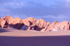 rock formations at valle de la muerte (death valley), san pedro de atacama, a - stock photo