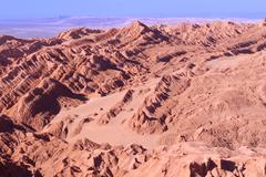 Salt formations at valle de la luna (moon valley), san pedro de atacama, chil Stock Photos