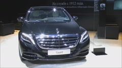 Armored sedan Mercedes-Benz S600 Cuard - stock footage