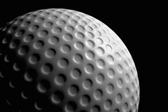 close up of a golf ball against a black background - stock illustration