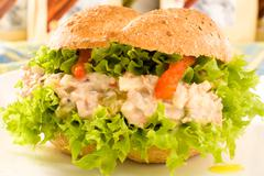Stock Photo of vegetarian sandwich close up