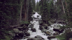 Beautiful Waterfall in the Rocky Mountains - stock footage