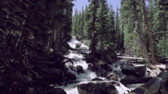 Stock Video Footage of Roaring Waterfall in Rocky Mountain National Park