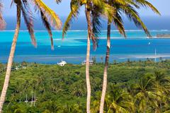 Panoramic view of san andres island, colombia Stock Photos
