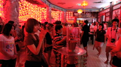 People worship at Thean Hou Chinese Temple Stock Footage
