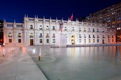 """palacio de la moneda, """"la moneda"""", chile's presidential and government palace - stock photo"""