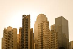 Apartment buildings at causeway bay district, hong kong island, hong kong, ch Stock Photos