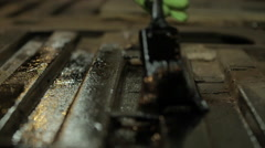 Paint being brushed on a surface - Slow Motion Stock Footage
