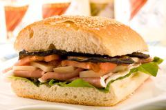 Multi layered sandwich Stock Photos