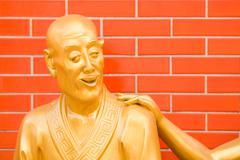 """Buddha statue at the """"10.000 buddhas temple"""", sha tin, hong kong, china, as Stock Photos"""
