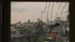 Manhattan Skyline Window Map New York City NYC 4K Rack Focus - stock footage