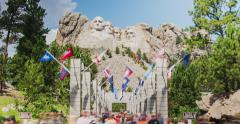 Mt. Rushmore Grand Terrace Time-Lapse Stock Footage