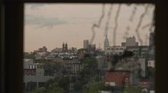 Manhattan Skyline Window Map New York City NYC 4K Rack Focus - stock footage