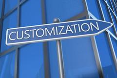 customization - stock illustration