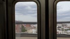 Inside Subway Train Car Window Doors Brooklyn New York City NYC 4K Interior Stock Footage