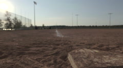 Tracking Shot of Baseball Diamond Base Stock Footage