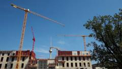Documentation of large construction site berlin castle detail Stock Footage