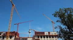 Documentation of construction site berlin castle detail Stock Footage