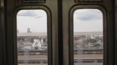 Inside Subway Train Car Window Doors Brooklyn New York City NYC 4K Interior Stock Footage