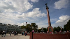 Eople at the Tsvetnoy Boulevard. Stock Footage