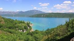 St Croix Lake, Les Gorges du Verdon, Provence, France Stock Footage