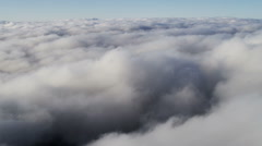 Stock Video Footage of Aerial Flying Above Cumulus Clouds Mid Air Transportation  Altitude