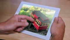 4K Photo Album on an iPad Stock Footage