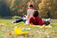 Students spending freetime in the park Stock Photos