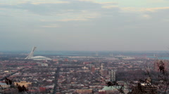 Downtown Montreal Cityscape Skyline Stock Footage