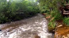 Rushing Water In Oak Creek- Sedona Arizona Stock Footage