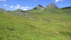 Pyrenees mountains frontera del Portalet, Huesca, Aragon, Spain - stock footage