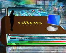 folder of sites - stock illustration