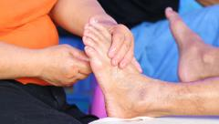 Simple massage foot of thailand Stock Footage