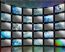 many screens - stock illustration