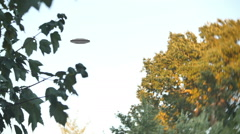 UFO in sky eratic movements HD Stock Footage