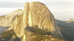 Time Lapse of Half Dome at Sunset in Yosemite -Zoom Out- Stock Footage