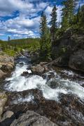 Little firehole river near the mystic falls Stock Photos