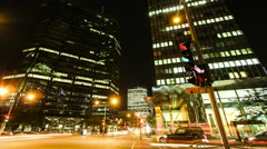 Night city life timelapse 2 Stock Footage