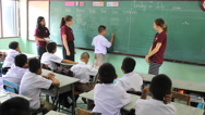 Stock Video Footage of Asian Student Volunteers During English Class