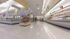 Walkthrough publix 4 Stock Footage