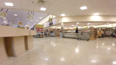 Publix hyperlapse walkthrough Stock Footage