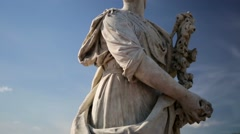 Pan view of one of the Peterhof's statues. Stock Footage