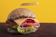 Congratulation hamburger Stock Photos