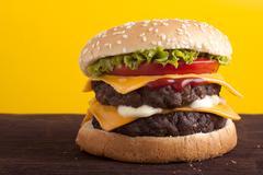 Double cheeseburger Stock Photos