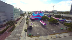 Circus Tent aerial Miami Stock Footage