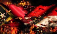 east timor indonesia flag war torn fire international conflict 3d - stock illustration