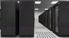 Seamless Looping Animation of Servers Rack in Data Center Stock Footage